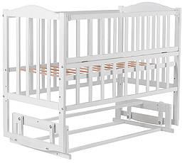 Кровать Babyroom Зайчонок ZL201 маятник, откидной бок  белая