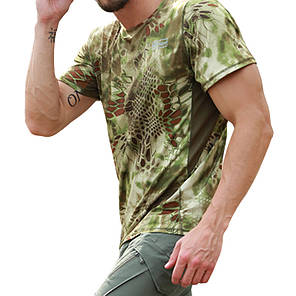 Тактическая футболка с коротким рукавом ESDY A159 Green Kryptek размер XL мужская армейская, фото 2