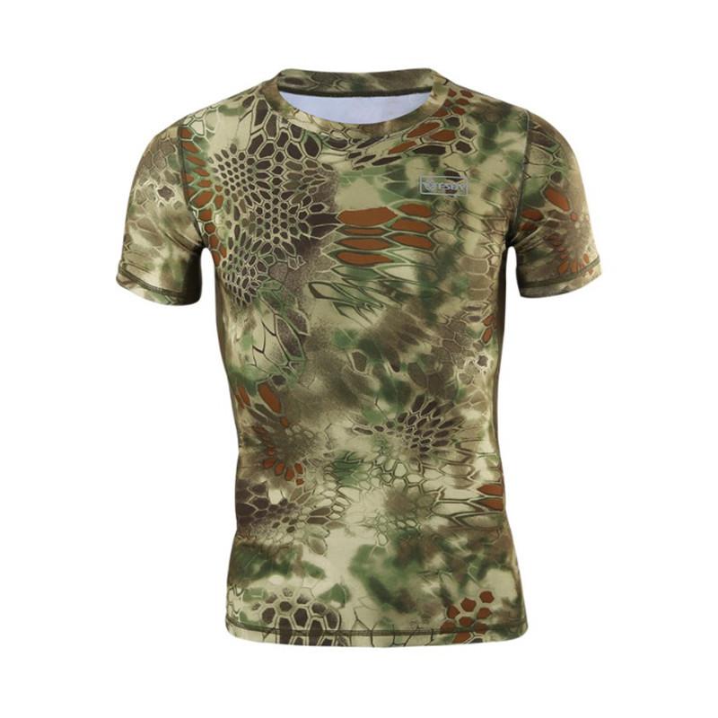 Тактическая футболка с коротким рукавом ESDY A159 Green Kryptek размер XXL мужская армейская