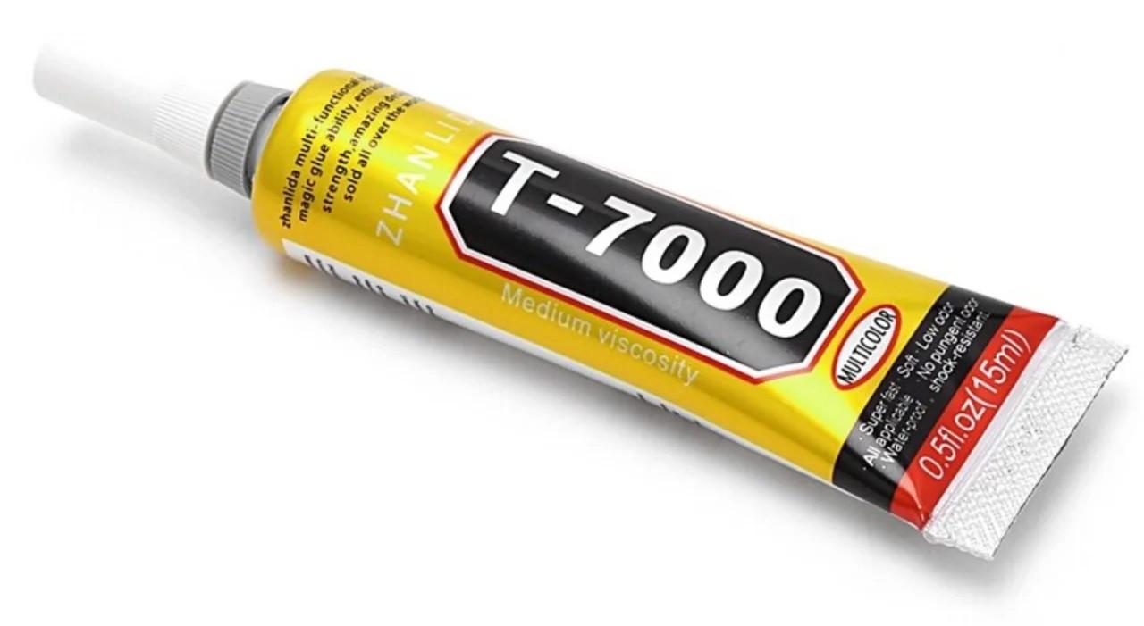 Клей герметик для проклеювання тачскрінів Т-7000 , чорний, 15 мл T7000