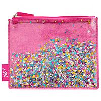 Пенал-косметичка YES с блестками Glitter sorbet Розовый (532638), фото 1