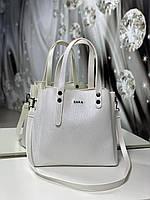 Женская сумка светлая небольшая модная среднего размера квадратная жемчуг кожзам, фото 1