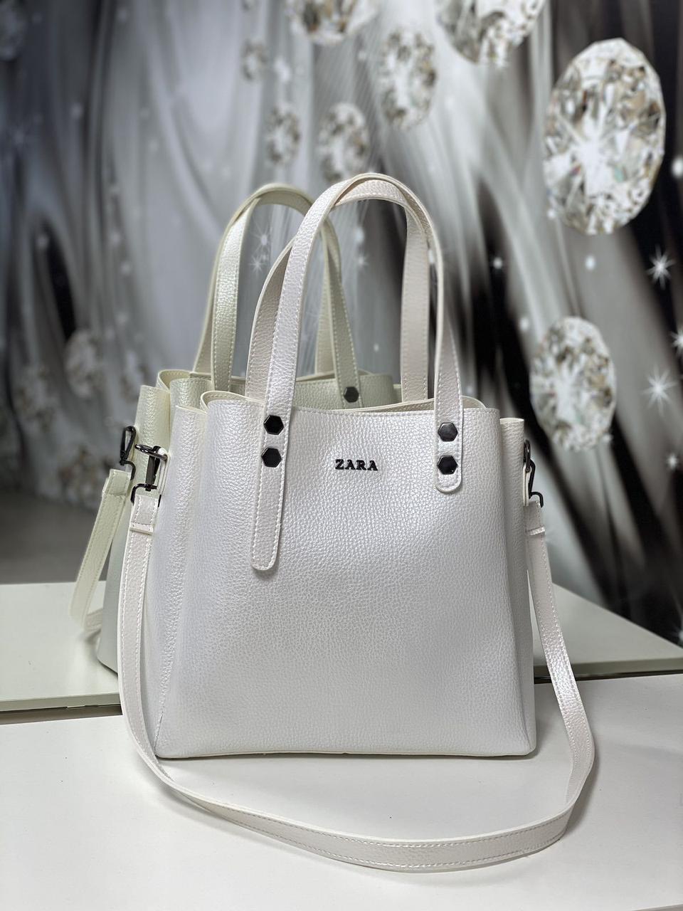 Женская сумка светлая небольшая модная среднего размера квадратная жемчуг кожзам