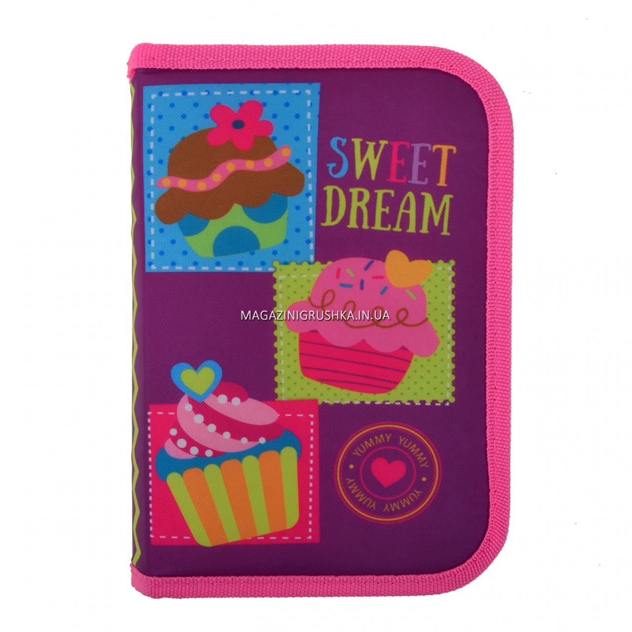 Пенал твердий Smart одинарний з клапаном Sweet dream Smart фіолетово-рожевий (531691)