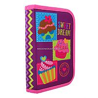 Пенал твердий Smart одинарний з клапаном Sweet dream Smart фіолетово-рожевий (531691), фото 2