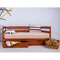 Деревянная Кровать подростковая Ева 90х200 с матрацем и ящиками, фото 1
