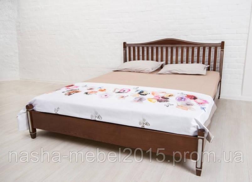 Кровать Полуторная Деревянная Монблан 1,4