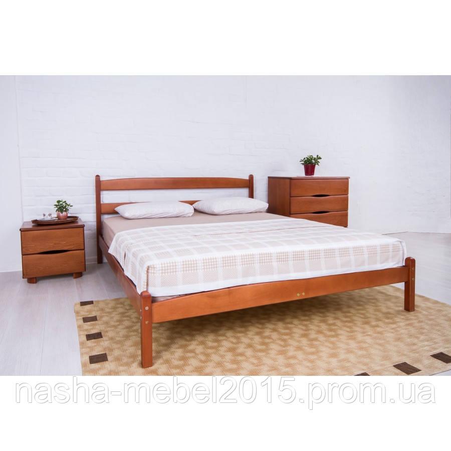Кровать деревянная двуспальная Ликерия 1,8 без изножья