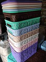 Корзина Ажур с крышкой 7,5 л для хранения Полимер Украина, фото 1