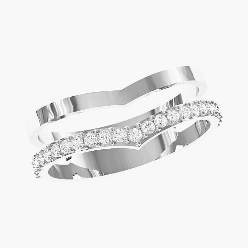 Кольцо женское серебряное Double КЕ-1679