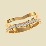 Кольцо женское серебряное Double КЕ-1679, фото 2