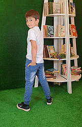 Штаны трикотажные для мальчика под джинс на возраст 8,16 лет