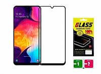 Samsung Galaxy M30 M305 Защитное Стекло Full Glue (черная рамка)