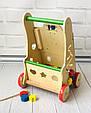 Дерев'яна каталка - ходунки (бизиборд Busyboard) арт. 0943, фото 4