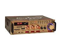 Підсилювач звуку UKC SN-802BT Bluetooth+FM+USB Караоке 2-канальний 2x60W (4_00360)