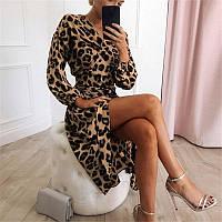 Шифоновое женское платье с имитацией запаха длиной миди с длинными рукавами 83mpl1550, фото 1