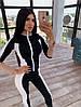 Женский костюм сспортивного стиля с лосинами и облегающей мастеркой на молнии 66msp1045Q