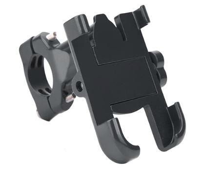 Велодержатель для телефона, смартфона SJJ-007 алюминий, черный