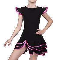 Костюм для бальных танцев Dance&Sport N 089-2 масло Черный с розовым