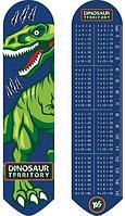 Закладка пластиковая 2D Динозавр 1В 19 * 4,5 см 705824