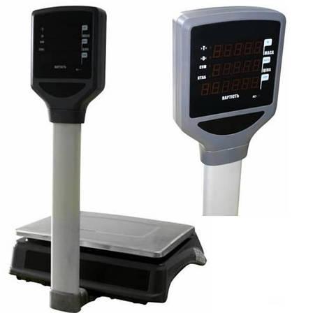 Весы торговые Вагар VP LED RS-232 (6/15 кг), фото 2