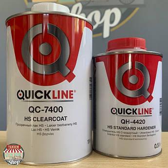 Лак акрил-уретановый Quickline QC-7400 2:1 HS, 1 л + 500 мл Комплект
