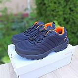 Чоловічі зимові кросівки в стилі Merrell Vibram чорні з помаранчевим, фото 3