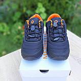 Чоловічі зимові кросівки в стилі Merrell Vibram чорні з помаранчевим, фото 4