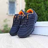 Чоловічі зимові кросівки в стилі Merrell Vibram чорні з помаранчевим, фото 5