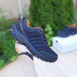 Чоловічі зимові кросівки в стилі Merrell Vibram чорні з помаранчевим, фото 6