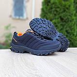 Чоловічі зимові кросівки в стилі Merrell Vibram чорні з помаранчевим, фото 7