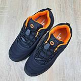 Чоловічі зимові кросівки в стилі Merrell Vibram чорні з помаранчевим, фото 8