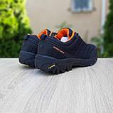 Чоловічі зимові кросівки в стилі Merrell Vibram чорні з помаранчевим, фото 9