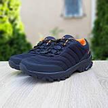 Чоловічі зимові кросівки в стилі Merrell Vibram чорні з помаранчевим, фото 10