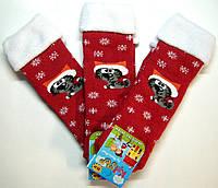 Носки детские новогодние красные