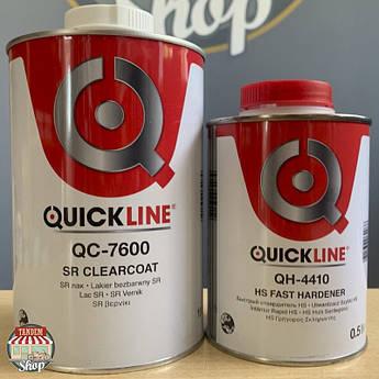 Лак полиуретановый повышенной прочности (антискретч) Quickline QC-7600 SR 2:1, 1 л + 500 мл Комплект