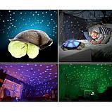 """Ночник детский """"музыкальная черепаха"""" проектор звездного неба персиковый, фото 8"""