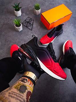Летние стильные мужские кроссовки красный с черным (Red-black)