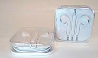 Наушники белые с микрофоном в коробке в стиле Apple