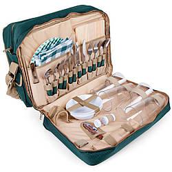 Набір для пікніка КЕМПІНГ HB4-425 (посуд на 4 персони + сумка з термо-відсіком)