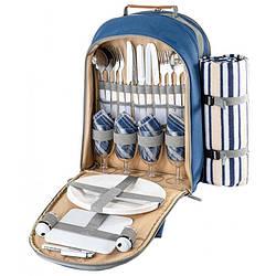 Набір для пікніка КЕМПІНГ Easy go СА-421 (посуд на 4 персони + рюкзак)