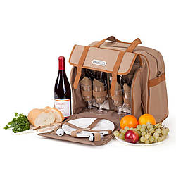 Набір для пікніка КЕМПІНГ СА-576 (посуд на 4 персони + сумка з термо-відсіком)