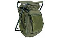 Туристический рюкзак Mil-tec 20 л со стульчиком цвет олива