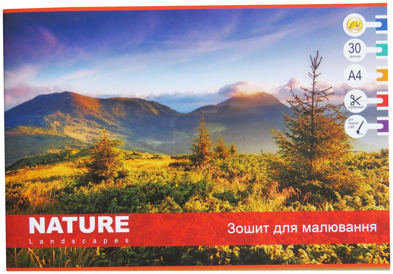 Альбом для рисования Тетрада 30 листов, Природа