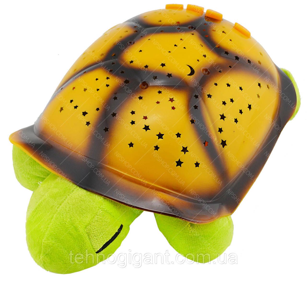 """Ночник детский """"музыкальная черепаха"""" проектор звездного неба, зеленая"""