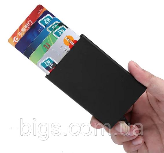 Картхолдер з захистом від безконтактного зчитування ANTI RFID 10*6.2*0.8 см