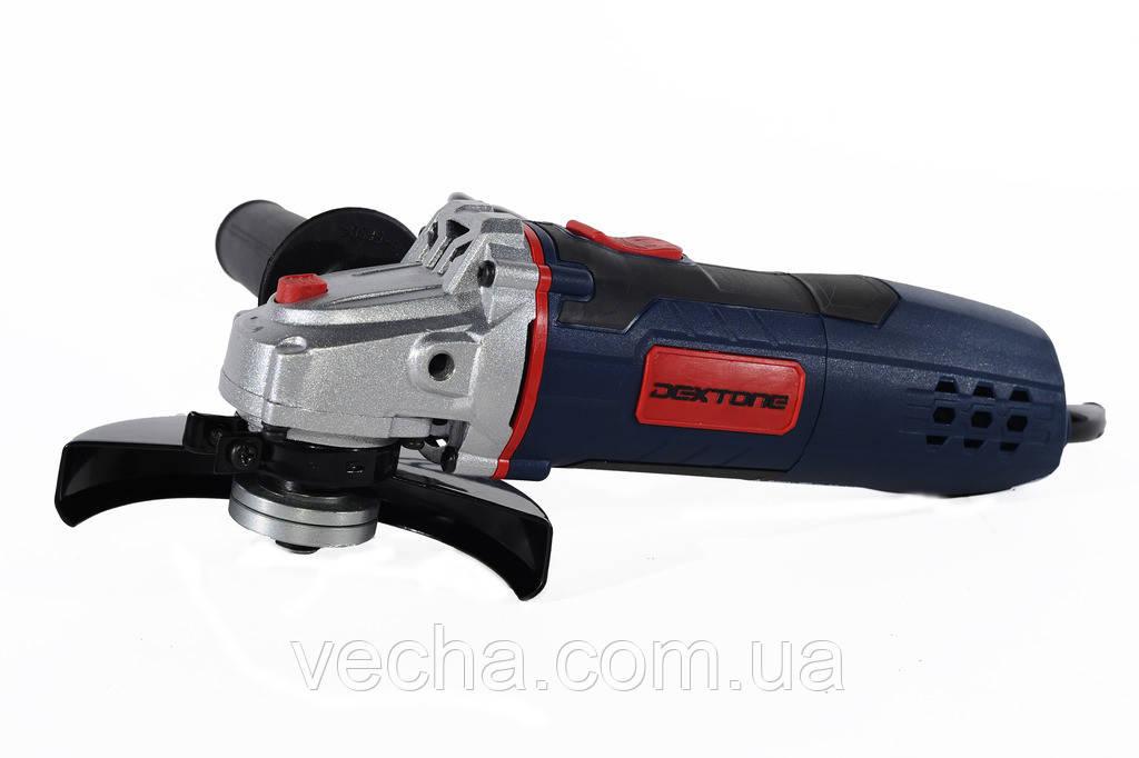 Болгарка Dextone DXAG-950 (125 мм, 950 Вт, медн. обмотка двигателя)