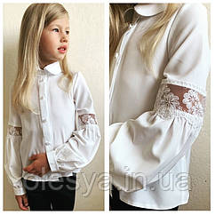 Блуза школьная для девочек «Donna» тм Brilliant Размер 116