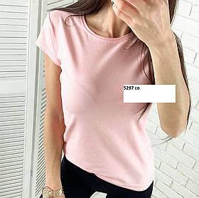 Базовая футболка стильная 5297 со, разные цвета