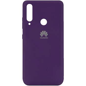 Чехол Silicone Cover My Color Full Protective (A) для Huawei Y7p (2020) Фиолетовый / Purple